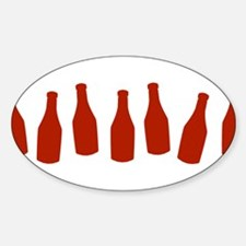 Bottles of Ketchup Oval Decal