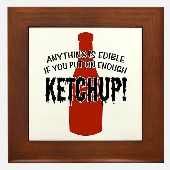 Put on Enough Ketchup Framed Tile