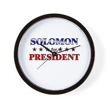 SOLOMON for president Wall Clock