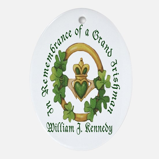 In Remembrance Sample Oval Ornament