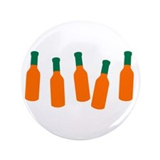 "Bottles of Hot Sauce 3.5"" Button"