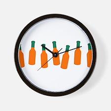 Bottles of Hot Sauce Wall Clock