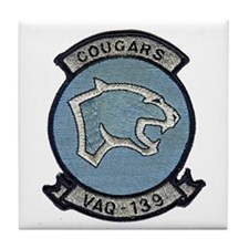 VAQ 139 Cougars Tile Coaster