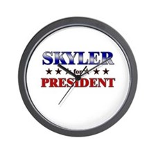 SKYLER for president Wall Clock
