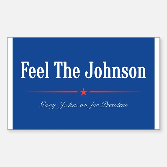 Feel the Johnson Campaign Sign Decal