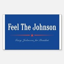 Feel the Johnson Campaign Sign Stickers