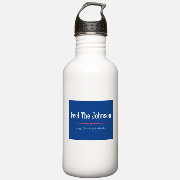 Feel the Johnson Campaign Sign Water Bottle