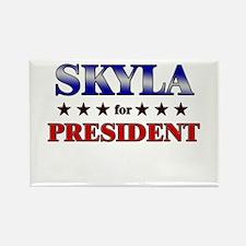 SKYLA for president Rectangle Magnet