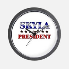 SKYLA for president Wall Clock