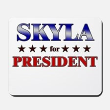 SKYLA for president Mousepad
