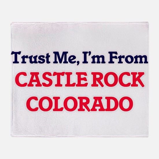 Trust Me, I'm from Castle Rock Color Throw Blanket
