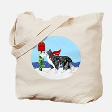 Border Collie Mail Tote Bag