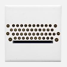 Typewriter Key Layout Tile Coaster