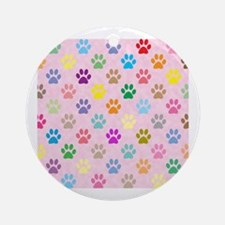 Funny Animal pattern Round Ornament