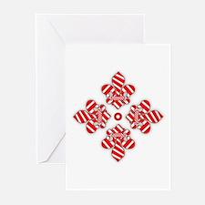 Candy Cane Fleur de lis Greeting Cards (Pk of 10)