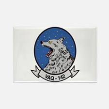 VAQ 142 Gray Wolves Rectangle Magnet