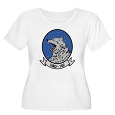 VAQ 142 Gray Wolves Women's + Size Scoop Neck Tee