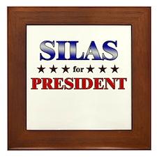 SILAS for president Framed Tile