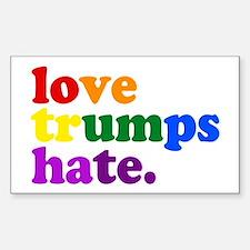 Love Trumps Hate Bumper Stickers