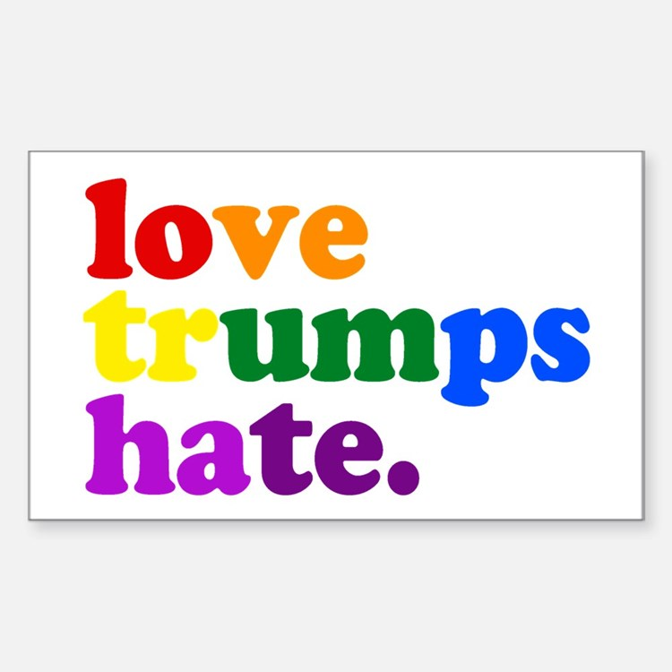 Love Trumps Hate Decal