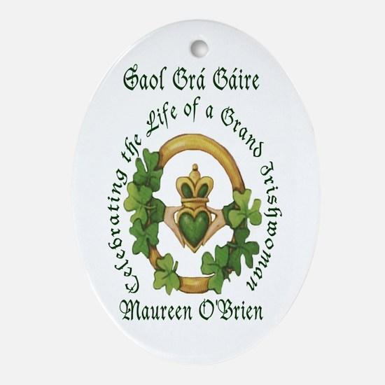 Saol Grá Gáire Memoriam Oval Ornament