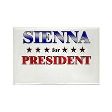 SIENNA for president Rectangle Magnet (10 pack)
