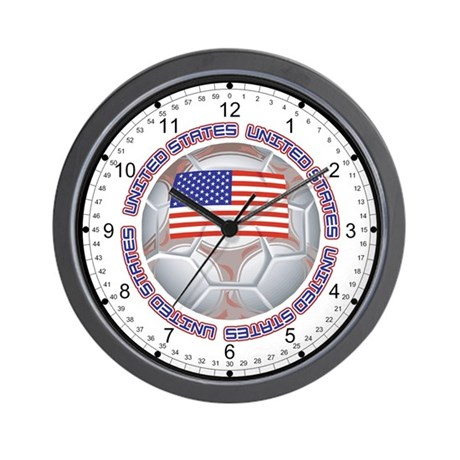 United States Soccer Wall Clock