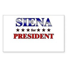 SIENA for president Rectangle Decal