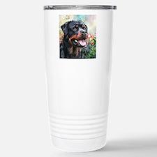 Rottweiler Painting Stainless Steel Travel Mug