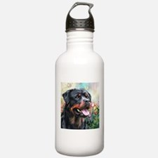Rottweiler Painting Water Bottle