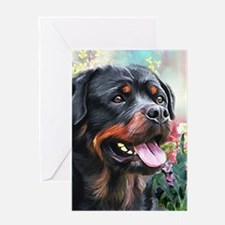 Rottweiler Painting Greeting Card
