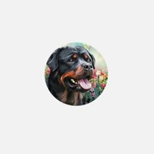 Rottweiler Painting Mini Button