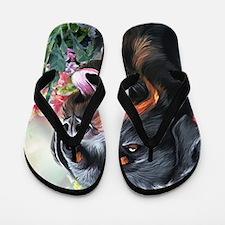 Rottweiler Painting Flip Flops
