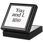 You and I: Hillary 2008 Keepsake Box