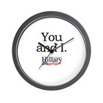 You and I: Hillary 2008 Wall Clock