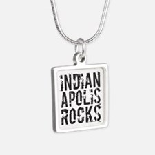 Indianapolis Rocks Silver Square Necklace