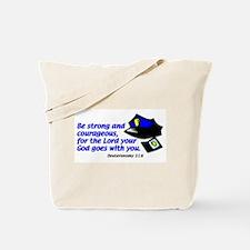 Deuteronomy 31:6 Tote Bag