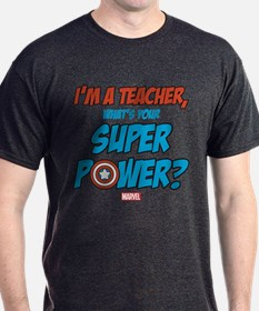 Captain America Teacher T-Shirt