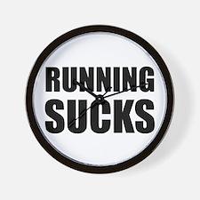 Running Sucks Wall Clock