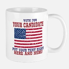 Vintage Your Candidate American Flag Personalized
