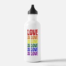 Love is Love is Love Water Bottle
