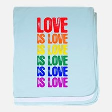 Love is Love is Love baby blanket