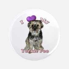 Love My Yorkie Poo Button