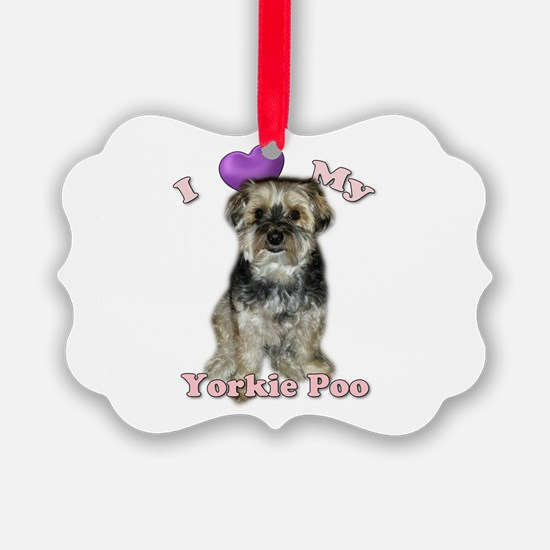 Love My Yorkie Poo Ornament