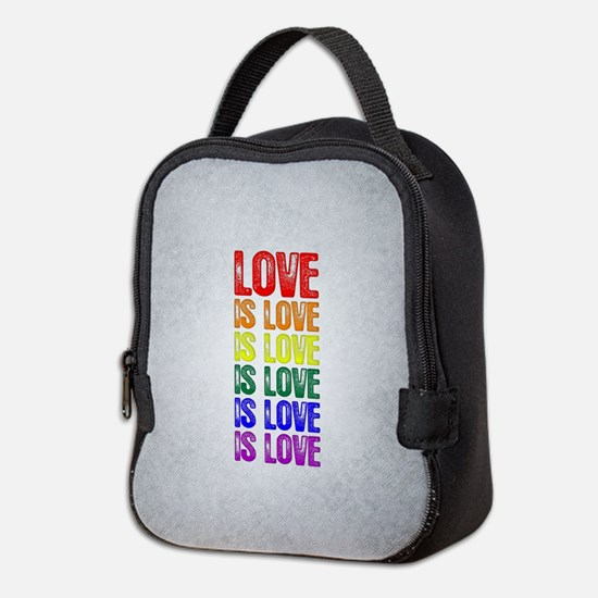 Love is Love is Love Neoprene Lunch Bag