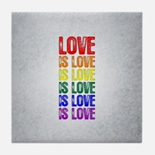 Love is Love is Love Tile Coaster