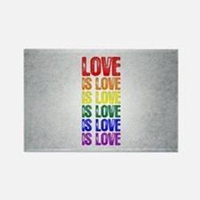 Love is Love is Love Rectangle Magnet