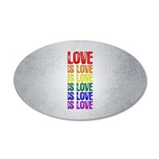 Love is Love is Love Wall Decal