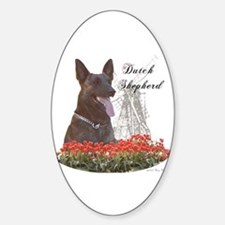 Dutchie-tulips Oval Decal