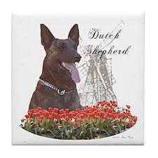 Dutchie-tulips Tile Coaster